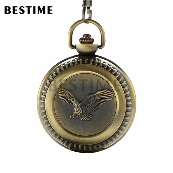 bestime watch vintage engraved eagle antique bronze quartz pocket bestime watch vintage engraved eagle antique bronze quartz pocket watch mens watch large size arabic numerals