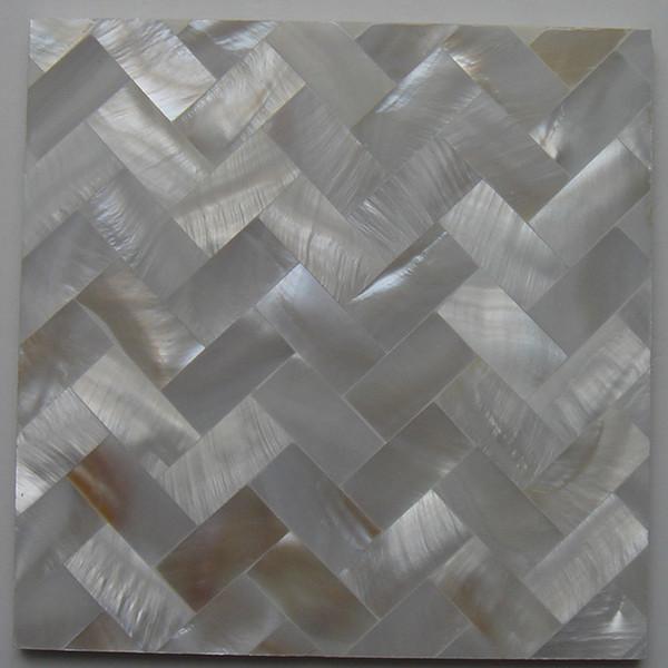 Grosshandel 10x20mm Naturliche Farbe Perlmutt Shell Fliesen Shell Mosaik Bad Waschraum Wand Fliesen Kuche Backsplash Fliesen Ms013n Von