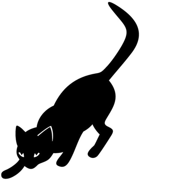 length:65cm Pouncing Cat Car Sticker For Cars Side, Truck Window ,Auto SUV Door Kayak Vinyl Decal 8 Colors