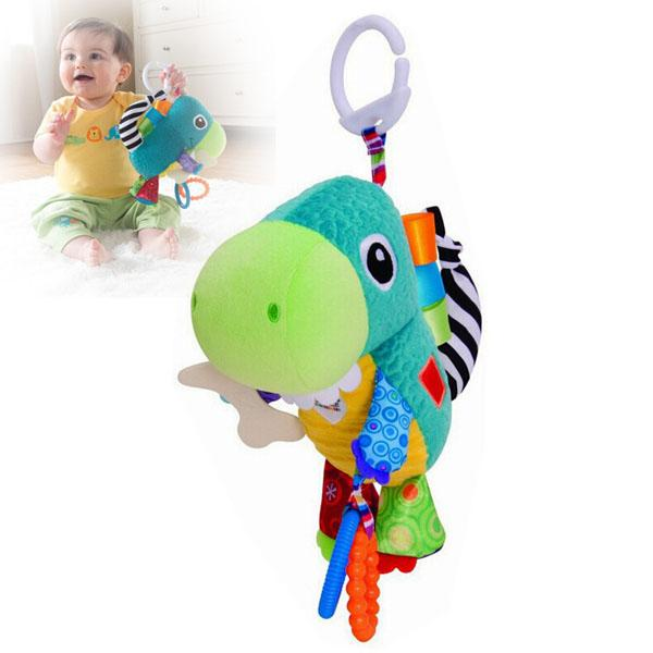 Plush Animal Musical multiuse Stroller Car lathe bed crib Hanging Bell Newborn Baby Educational Rattles Mobile Toys 0 12 months