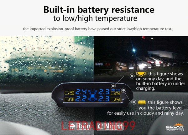 Solar TPMS newest technology Car Tire Diagnostic-tool with mini external sensor Auto Wireless Universal TPMS