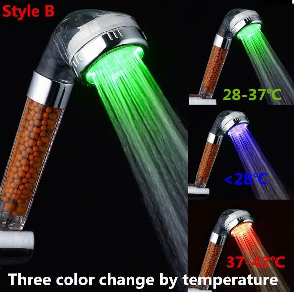 B 온도에 따른 3 색 변화