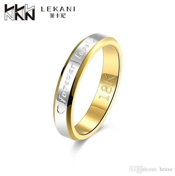 18K gold-plated jewelry lovers explosion models fashion trade forever love ring Stainless Steel Jewelry