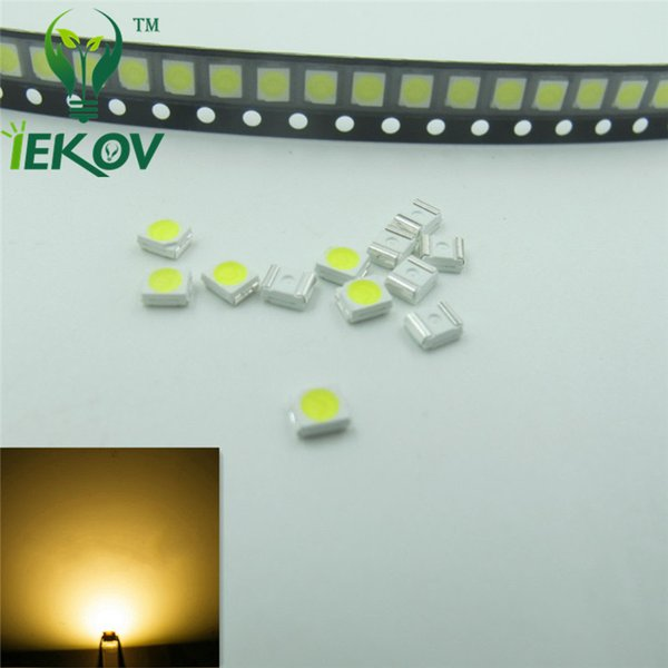 1000pcs PLCC-2 1210 3528 Warm White LED SMD Ultra Bright Light Emitting diodes 3.0-3.2V High quality SMD/SMT Chip lamp beads