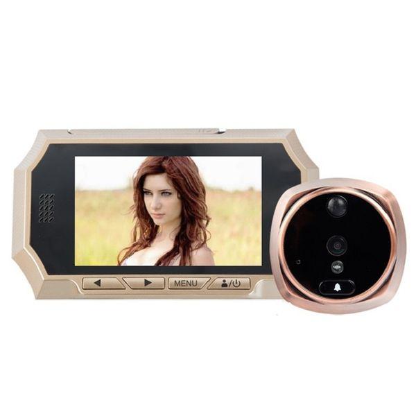4.3inch mirillas puerta digital IR Night vision PIR Motion Detection digital peephole Photos Taking Video Recording Max 32GB