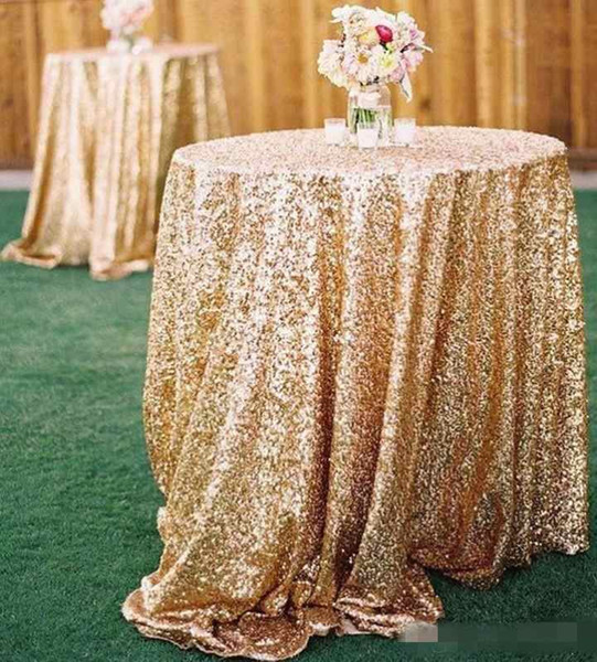 Free Shipping Cheap Rose Gold Bling Bling Sequins Wedding Decorations Table Cloth Glitter Evening Bridesmaid Prom Party Dress Fabric
