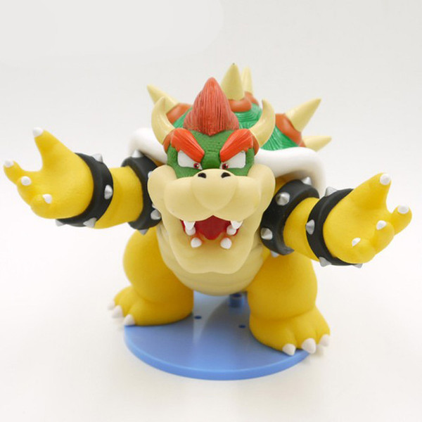 Super Mario Bros Boss Bowser Koopa Action Figure Toy Collection Kids Toys Christmas Birthday Gifts 14cm