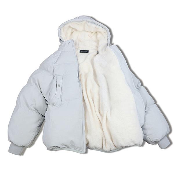 Übergroße Mäntel Winterjacke Frauen und Männer Paare Parka Kapuze Lammwolle Jacken Chaquetas Mujer Kurze Baumwolle Wintermantel C3475