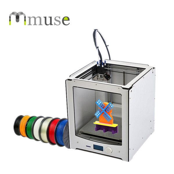 China Supplier Large Size 230*225*205mm Build Size 3D Printer DIY Machine with 1.75mm/3mm PLA/ABS/HIPS