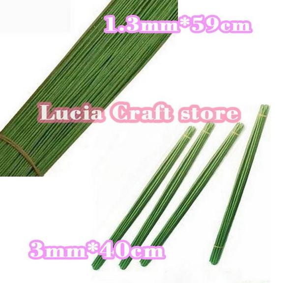 Großhandel 1.3mm 59cm / 3mm 40cmlength Grüne Farbe Papier Pachets ...
