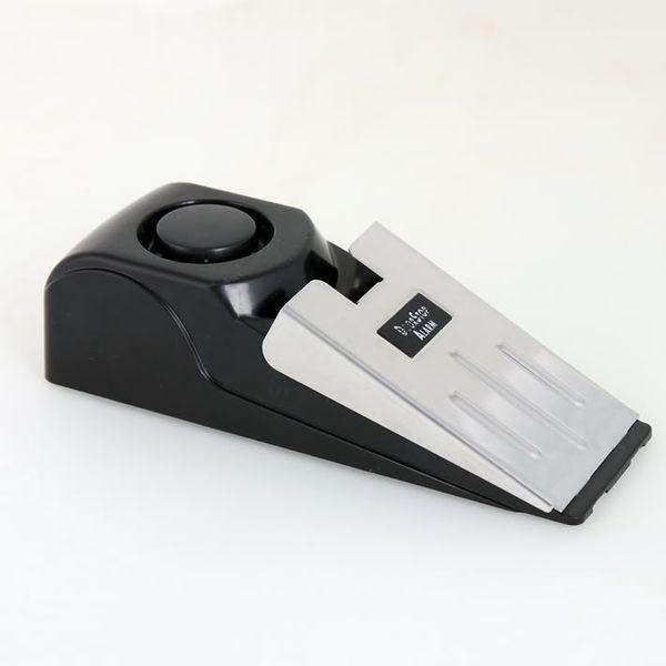 1pcs 120 dB système darrêt maison de sécurité en forme de coin en forme de butée de porte arrêt alarme bloquant blocage systerm