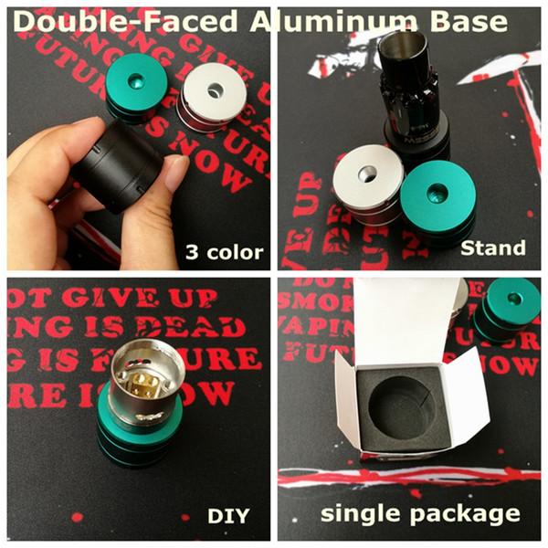Double face en aluminium Base RDA RBA Atomiseur Grand Support Support en Métal Exposition avec 510 fil DIY Affichage pour Vape Mods E clope Partie