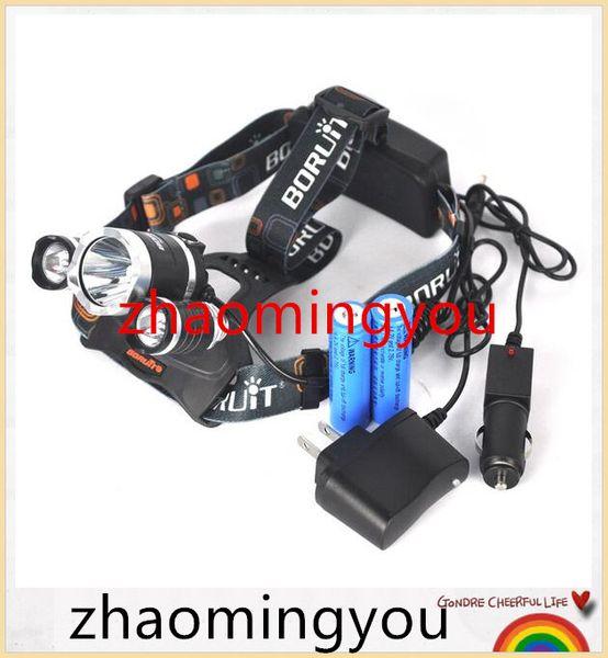 Farol RJ-3000 6000 Lumen Farol 3x XML T6 LEVOU Lâmpada de Cabeça 3T6 LED Linternas Frontales Para Camping
