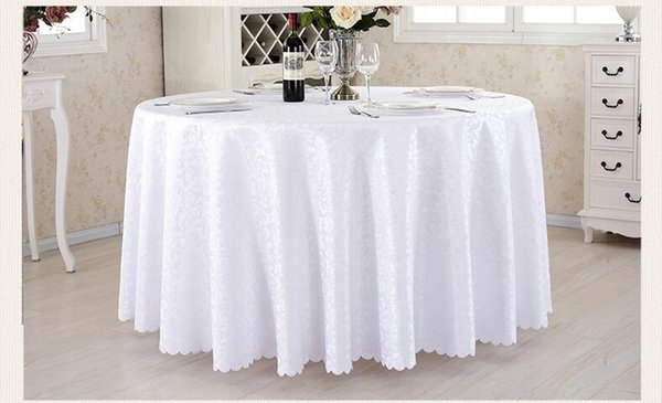 Hotel Restaurant Tablecloth With Wash Gold Restaurant Meeting Sarong Round Table  Cloth 180cm More Color White