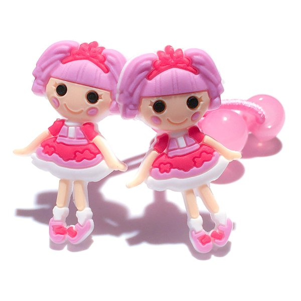 Retail 10Pairs+ Lalaloopsy Girl Cartoon Girls Hairbands Cute Headwear Hair Accessories PVC+Elastic Bands Kid Gift Party Favors Hair Jewelry