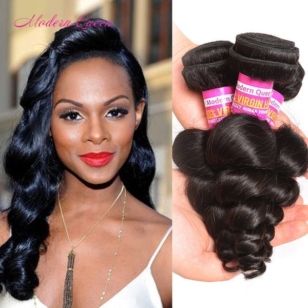 Natural Brazilian Loose Curl Hair Bundles High Quality Weft For Sale Cheap Wet And