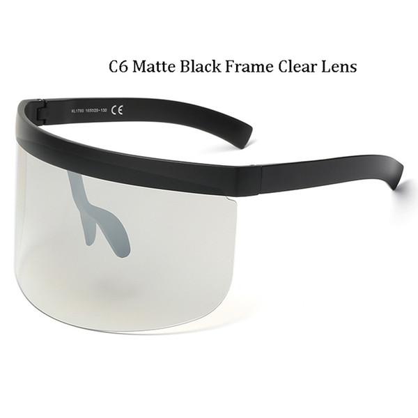 C6 Matte Black Frame Lentille claire