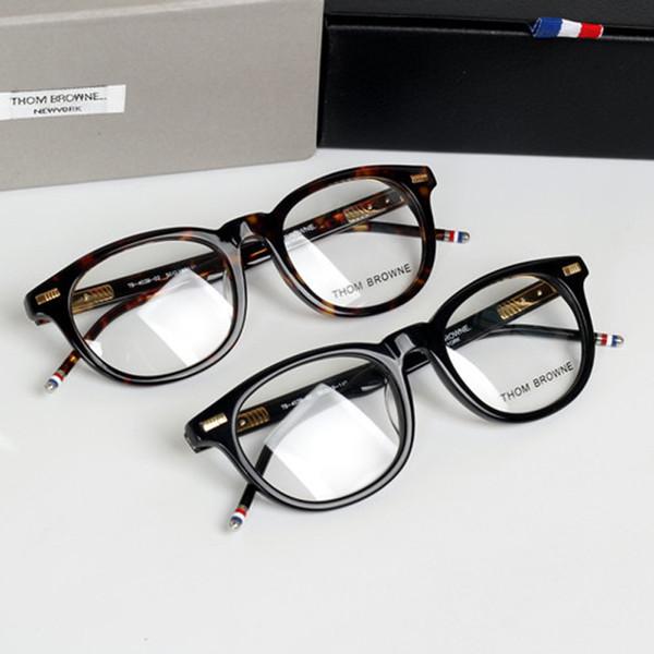 Wholesale- New York  Thom Vintage round Eyeglasses Frames glasses men and women TB403 Fashion Glasses Computer Optical Frame with Box