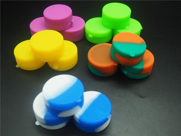 100% de qualité alimentaire 7 ml Dabber Silicone Conteneurs D'huile Ronds Concentré D'huile Jars Pots De Wax Conteneur Pour Dabs Passe FDALFGB Test