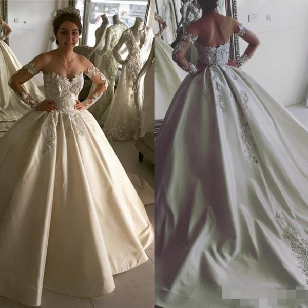New Crystal Design 2017 Ball Gown Princess Wedding Dresses Off ...