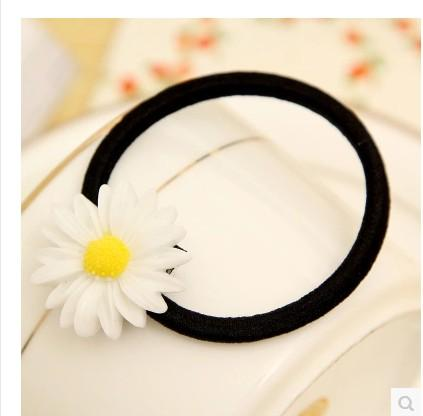 New daisy Hair Rubber Bands Multiple Use hair clip hair pin flower hair accessory Mix Design
