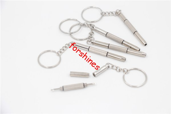 keychain screw driver key ring glasses screwdriver eye glass screwdriver ecigs vapor MOD RDA watch repair DIY Hand Tool slotted phillips hex