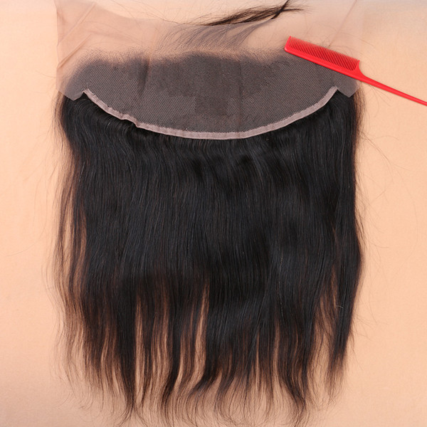 Slove Hair Products Brazilian Virgin Human Lace Frontal Closure Straight With Baby Hair Full Frontal Lace Closure 13x4 Frontals