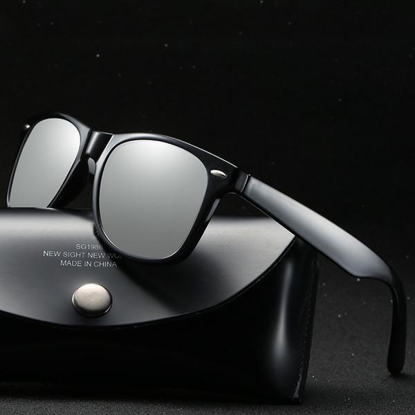 Erkekler ve kadınlar için tasarımcı için güneş gözlüğü yeni polarize gözlük klasik parlak renk gözlük sürüş ayna Aksesuarları mesaj