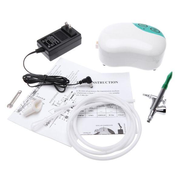 Air Brush Set for Body Paint Makeup Craft Mini Spray Gun Single Action Air Compressor Cake Toy Models