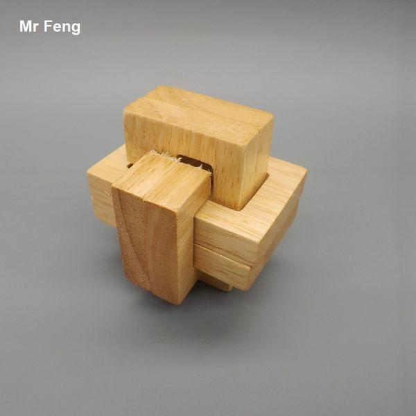 Amusement exquis Unlock Puzzle Puzzle Jouets en bois Lu Ban Lock