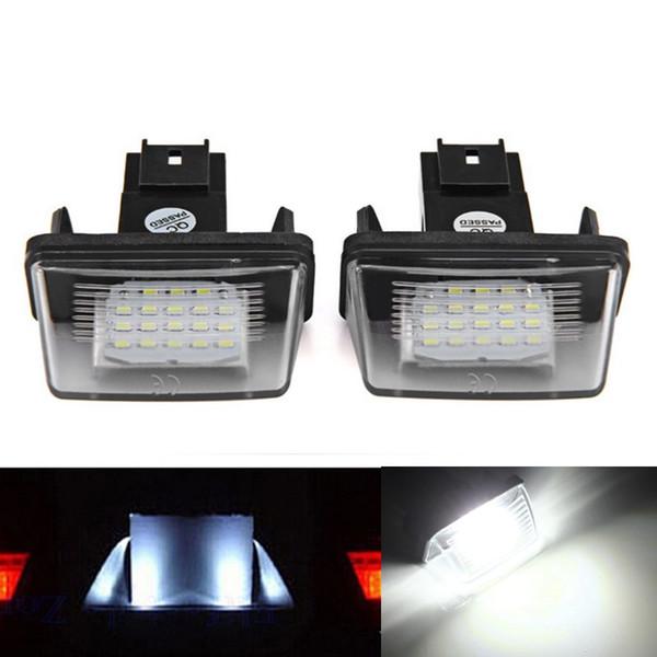 2Pcs Error Free 18 3528 SMD LED Luce targa Lampade a luce adatta per Peugeot 206 207 307 308 Citroen C3 C4 C5 Berlingo SAXO