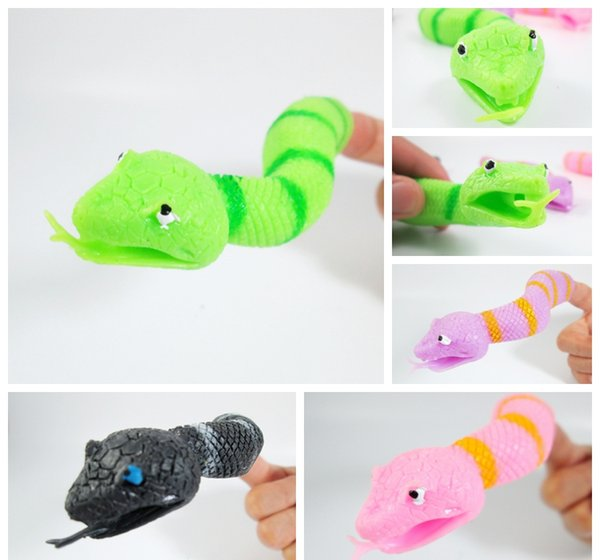 New Arrival Lotnovelty Tpr The Snake Finger Puppet Toys Funny Toys