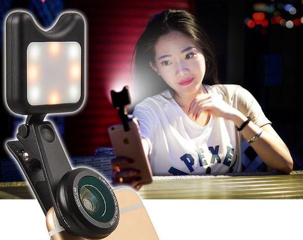 Nuevo llega Selfie Flash inalámbrico portátil Cámara con cámara LED Fotografía de fotografía Mejora de la luz para iPhone huawei Smartphone lente de la cámara
