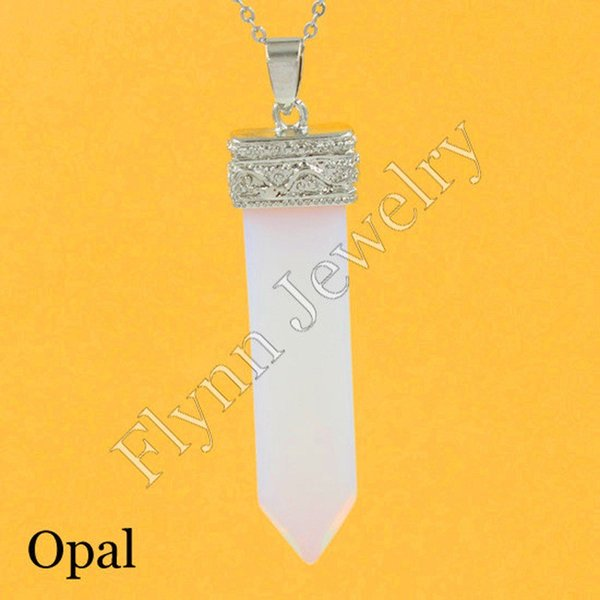 2016 Rock Crystal Quartz Malachite Opal Various Natural Stone Sword Reiki Pendant Charms Super Energy Healing Chakra Amulet 10Pcs