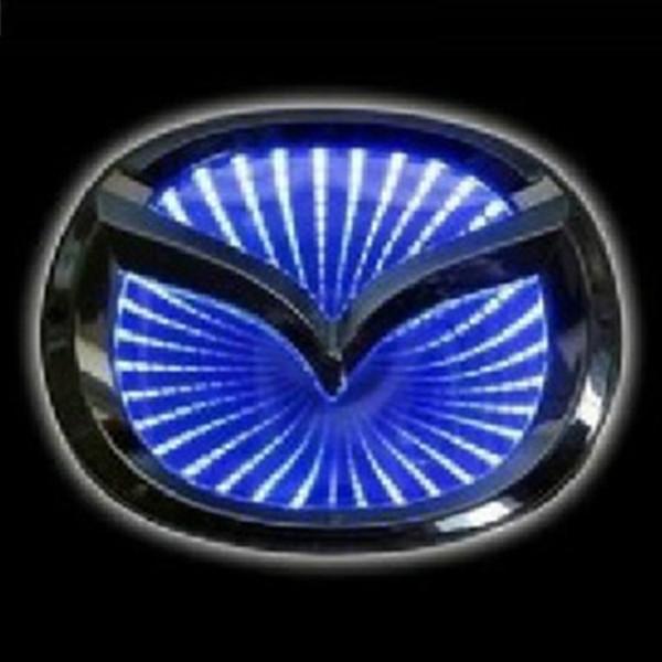 Mazda 3d Led Light Car Logos For Rear Blue Red White Automobile