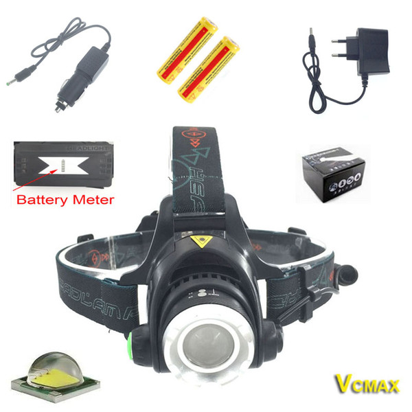 2000LM XM-L T6 LED Headlamp Zoomable Headlight Outdoor Light 18650 Bicycle Flashlight Head Light Camping Headlamp