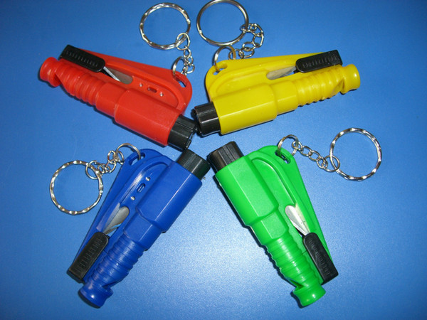 Genuine mini car safety hammer broken windows Multifunction Car carrier escape hammer broken window artifact Keychain