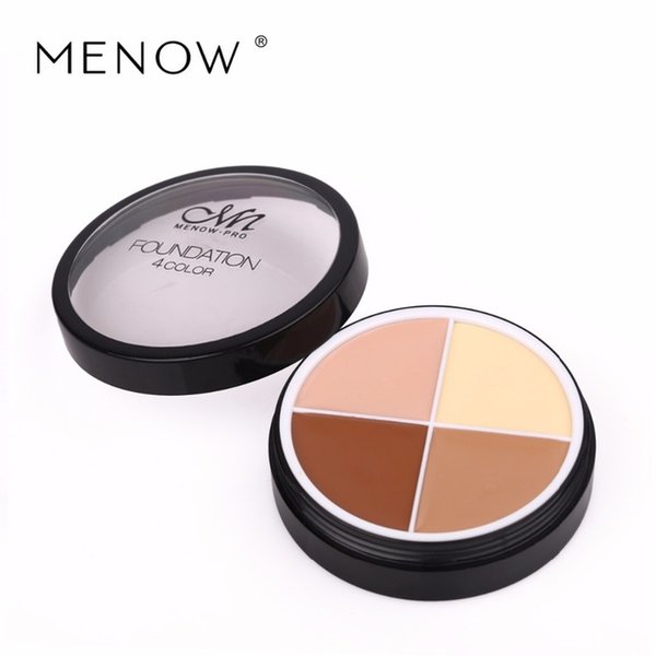 Menow 4 colores marca maquillaje facial corrector crema duradera impermeable camuflaje corrector paleta cosméticaC