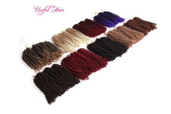 Mali Bob häkeln Zöpfe Haarverlängerungen 8inch Bounce Twist Flechten synthetische tiefe Twist Curly Weave verworrene Curly Crochet Hair Extensions