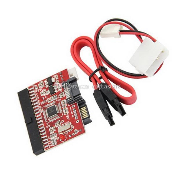 IDE zu SATA ATA 100/133 Serielle Festplatte CD DVD Konverter Adapter + Stromkabel H00038 BARD