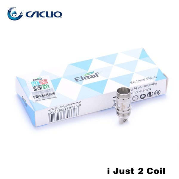 Authentic Eleaf iJust 2 EC Dual Coil Replacement Coil Heads for Eleaf iJust 2 Atomizer Melo Tank 0.3ohm 0.5ohm
