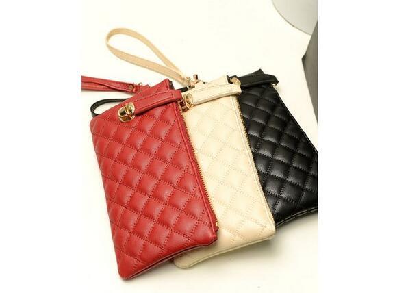 Fashionable Women Zip PU Leather Clutch Case Lady Long Handbag Wallet Purse FULI