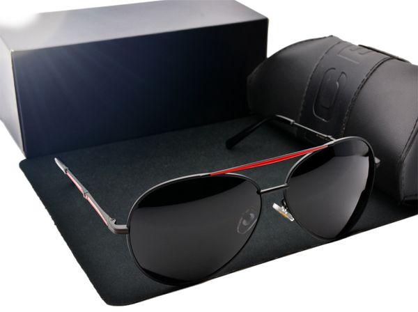 best selling 2020 Hot Sale New Style Designer glasses polarized driving Sunglasses Brand design Sun glasses men glasses are male with free case