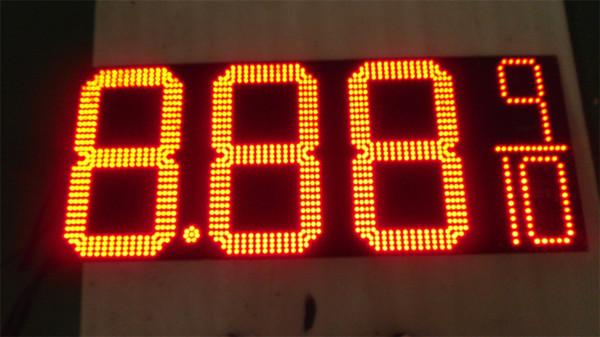 Alta Brilhante estação de gás levou placa de sinal de 16 polegadas dígitos LED preço de gás sinal de cor vermelha levou telas 8.888 8.889 / 10