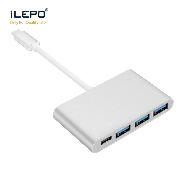 USB3.1 Typ C Hub zu USB 3.0 3 Ports Multi-Hub-Ladeadapter für Apple Macbook Smartphone und Tablet Laptop-Kabel USB-C