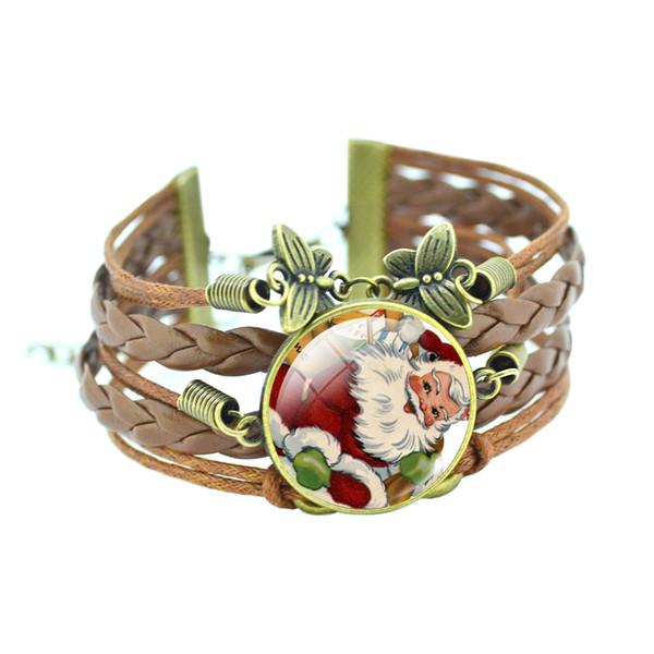 2017 New Santa Claus Time Gem Hand-woven Butterfly Lovers Bracelet