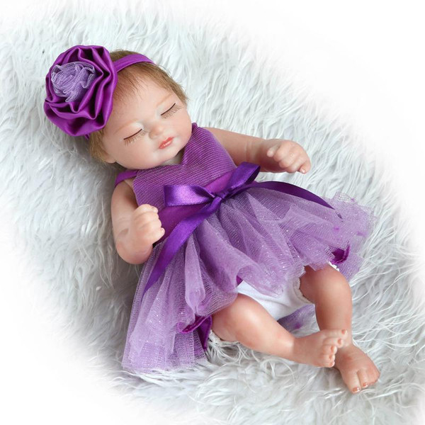 10inch Full Silicone Vinyl Reborn Baby Doll Realistic Fashion Doll Toy for Baby Christmas and Birthday Gift