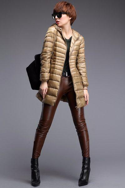 top popular Down Parka Famous Brand Designer Winter Jacket Women Long Sleeve Duck Down coat Outwear Ultralight Hooded Thin Coat 2019