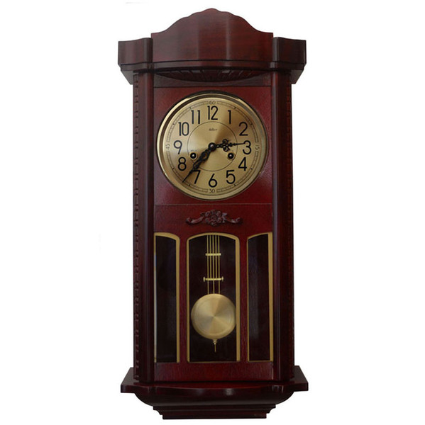 Mechanical Pocket Watch Wall Clock Living Room European Style Pendulum Swinging Feng Shui Bell