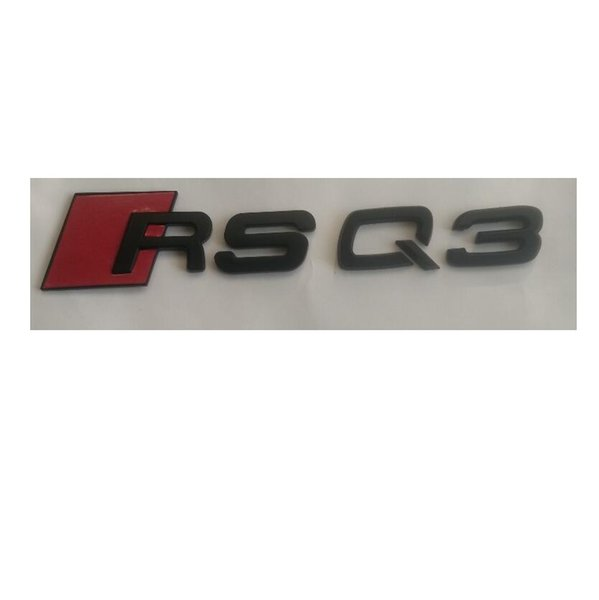 Matte Black RS Q3 ABS Number Letters Trunk Emblems Badge Sticker for Audi RSQ3